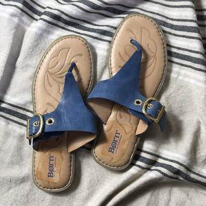 Born Leather flip flops